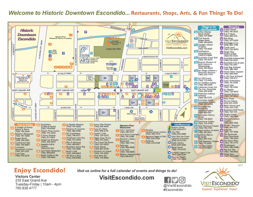 downtown escondido map