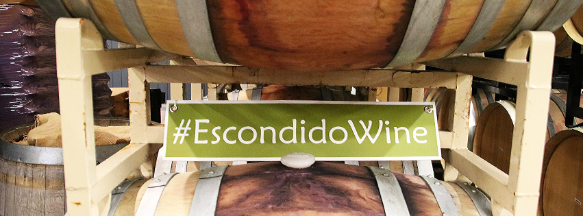 escondido wine hashtag sign