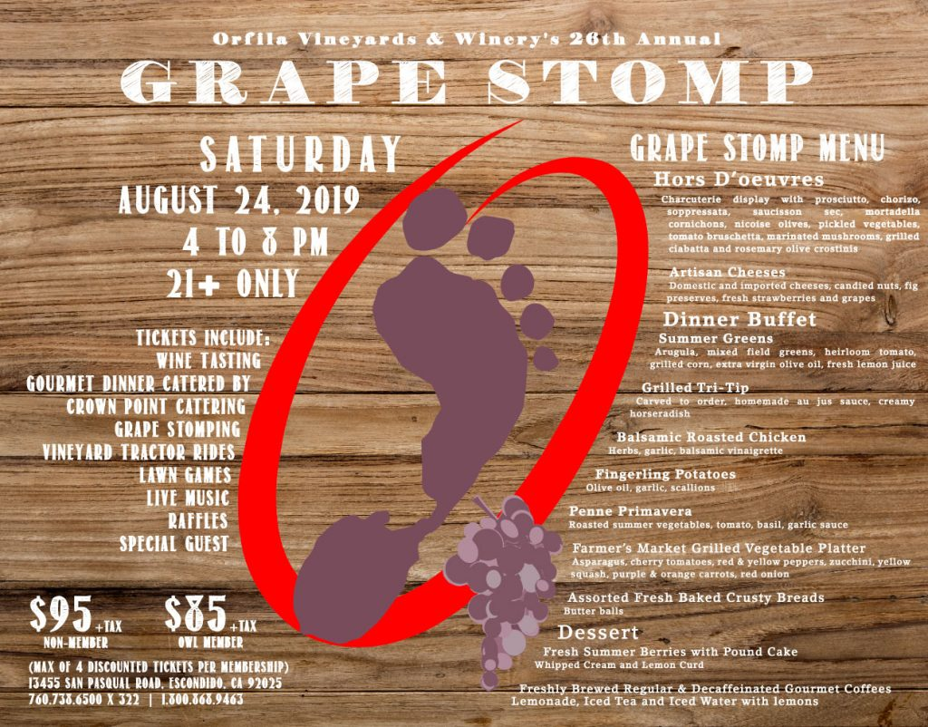 orfila winery grape stomp escondido