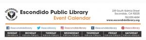 escondido public library event calendar
