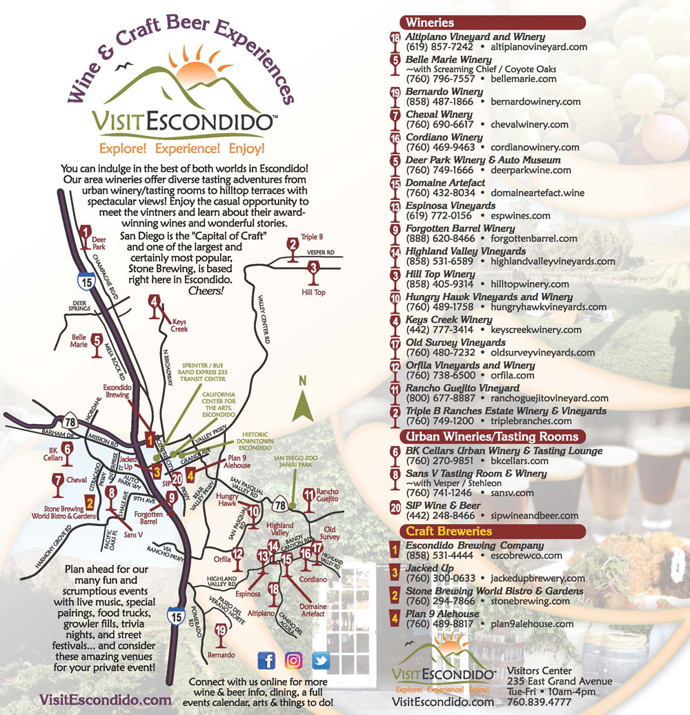 escondido wine beer map