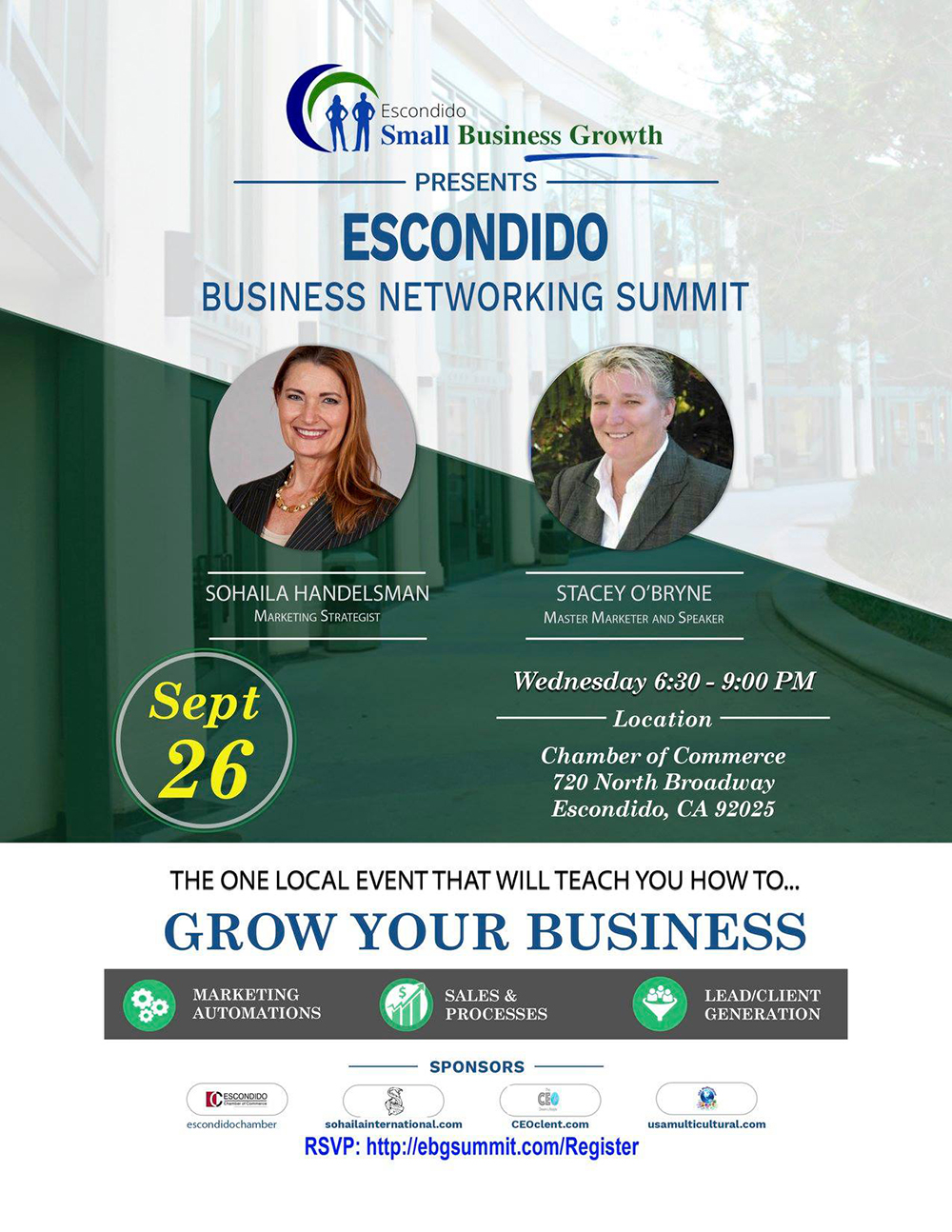 escondido small business networking summit