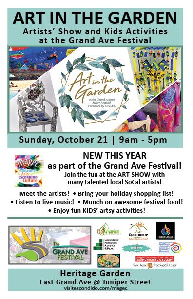 art in the garden escondido grand ave festival street fair
