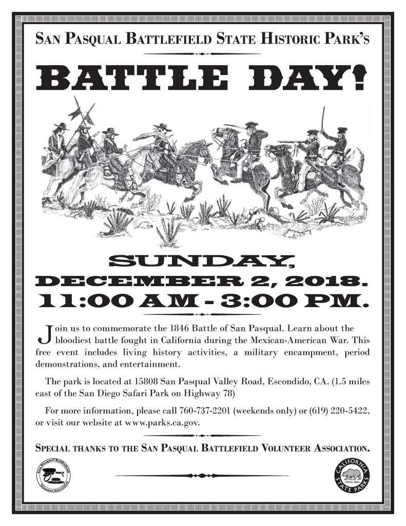 San Pasqual Battlefield Battle Day Escondido
