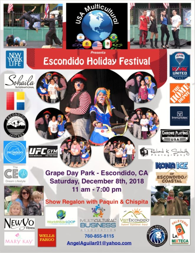 Escondido Christmas Parade 2019 Multicultural Holiday Festival in Grape Day Park   Visit Escondido