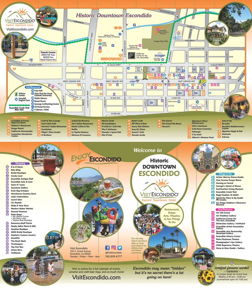 visit escondido downtown map - may2019