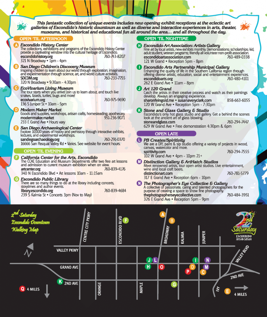 Escondido 2nd Saturday Arts & Museums Events
