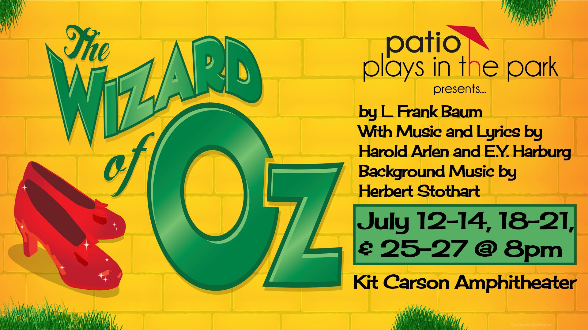 Patio Playhouse Wizard Of Oz Banner Visit Escondido Visitor Information Locals Welcome